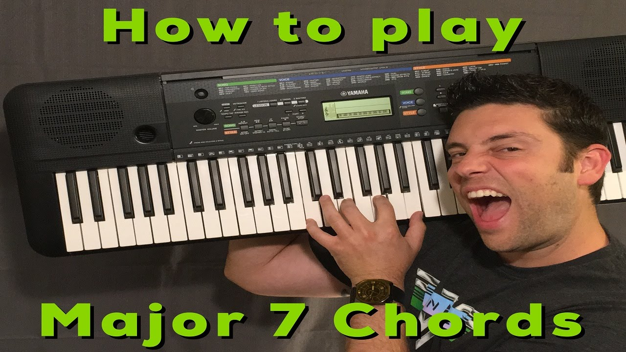 How to play major 7 chords on piano for beginners youtube how to play major 7 chords on piano for beginners hexwebz Choice Image