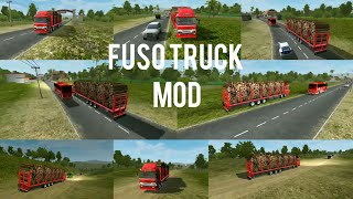 #Bussid Bus simulator indonesia game in FUSO Heavy and long wood transporting truck mod!