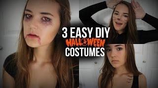 3 Easy DIY Halloween Costumes! (Cat, Vampire, & Tris Prior) | Reese Regan Thumbnail