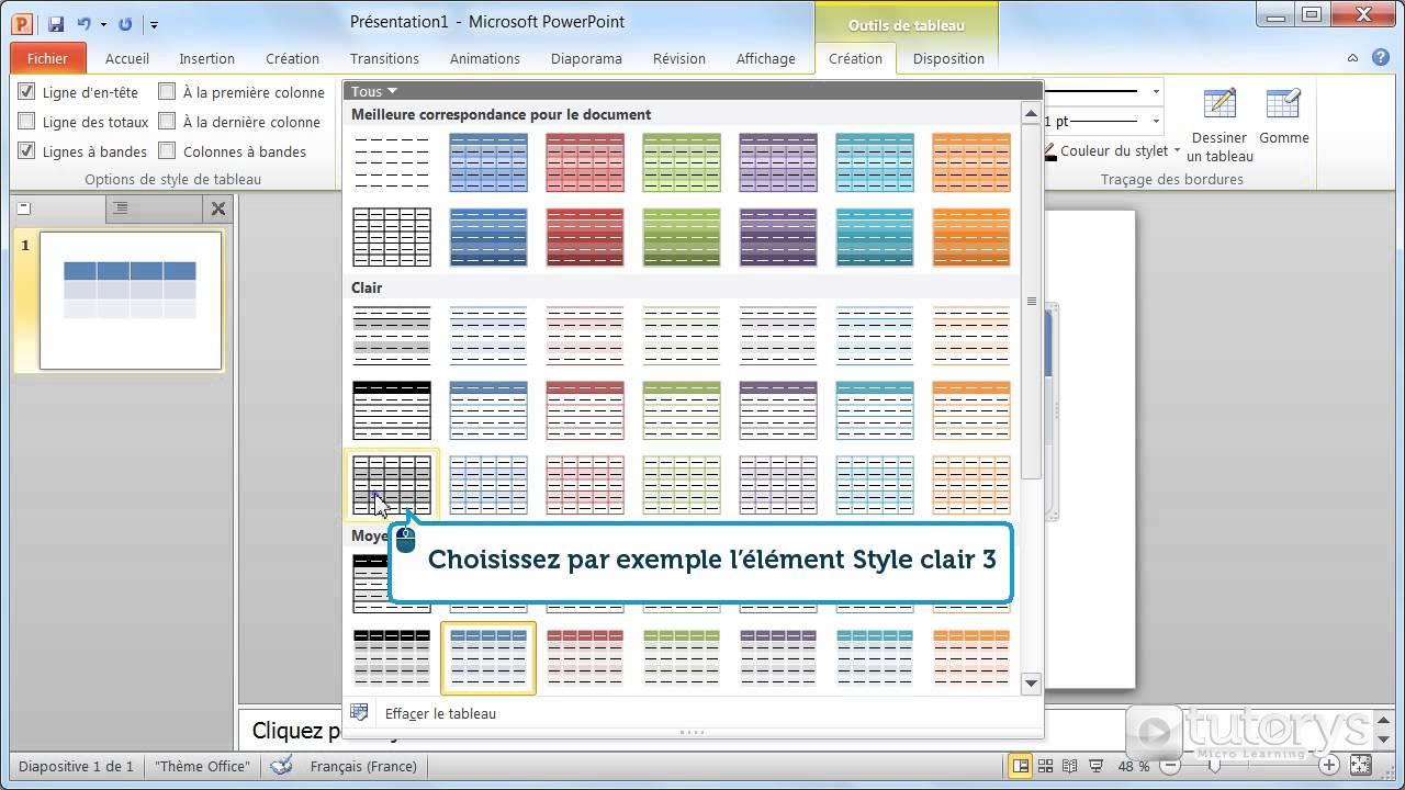 Comment Modifier La Disposition D Un Tableau Avec Powerpoint 2010
