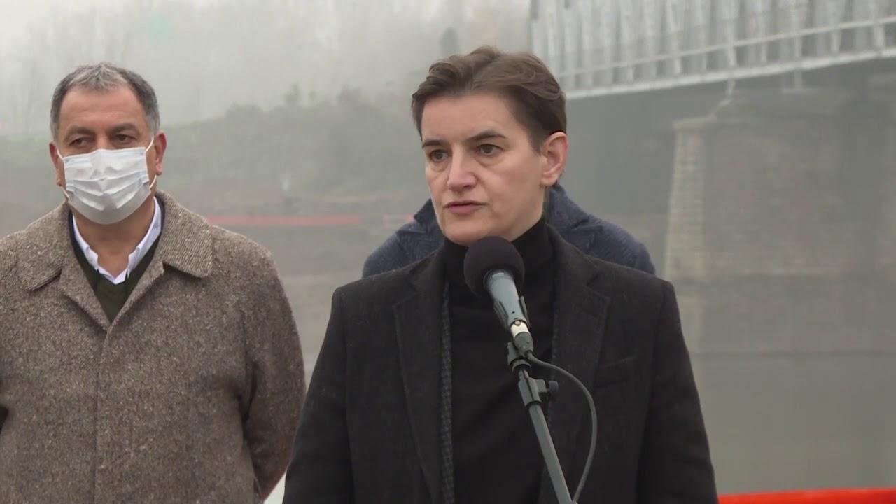 Premijerka Brnabić - Obilazak radova na putu Kuzmin-Sremska Rača