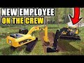 WE HAVE A NEW EMPLOYEE RUNNING THE EXCAVATOR | FARMING SIMULATOR 2017