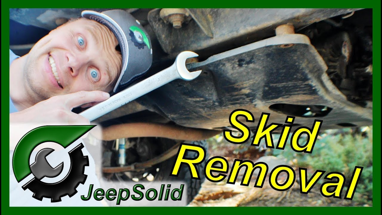 jeep wrangler yj skid plate removal [ 1280 x 720 Pixel ]