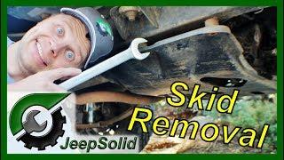 Jeep Wrangler YJ Skid Plate Removal
