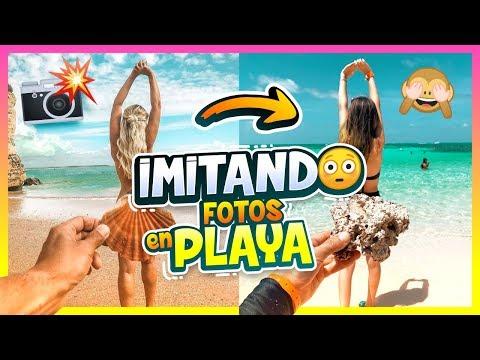 IMITANDO FOTOS TUMBLR EN LA PLAYA - Amara Que Linda