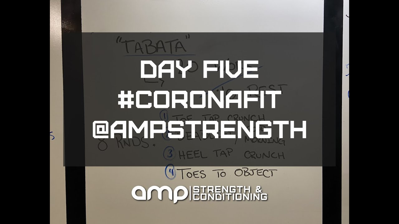 AMP Day Five - At Home Workout