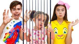 Nastya Artem und Mia - eine Geschichte über einen Käfig und neues Spielzeug