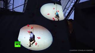 Speed climbing competition shows NO wall is too high when leaving work Friday night