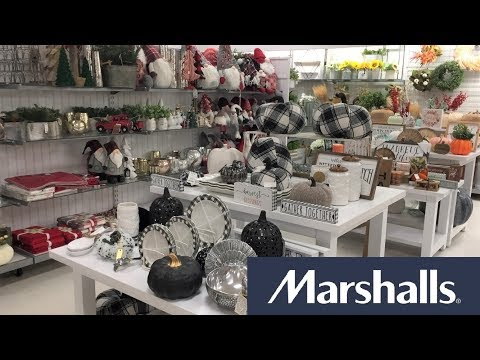 MARSHALLS FALL DECOR CHRISTMAS DECORATIONS HOME DECOR - SHOP WITH ME SHOPPING STORE WALK THROUGH 4K