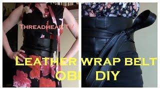 Sew a Leather Wrap OBI Belt DIY