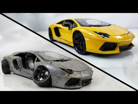 Restoration Damaged Lamborghini - Old SuperCar Aventador Model Car Restoration