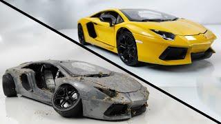 Restoration Damaged Lamborghini - Old SuperCar Aventador Model Car Restoration