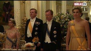 Los Reyes de Holanda en la cena de gala con los grandes Duques de Luxemburgo   ¡HOLA! TV
