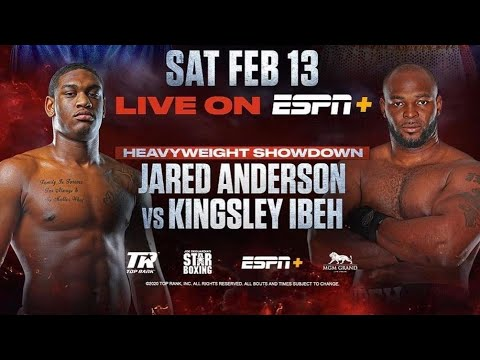 KINGSLEY IBEH VS JARED ANDERSON FEB 13; THE BLACK LION MEETS THE REAL BIG BABY!🇳🇬🇺🇸🧨