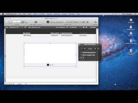 FileMaker Pro 13 Tutorial | Using The Slide Control Object