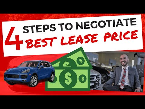How to Best Negotiate a Car Lease in Four Steps (and SAVE MONEY)