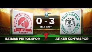 Batman Petrolspor 0-3 Atiker Konyaspor   Maç Özeti HD   A Spor   29.11.2017