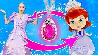 Принцесса София Прекрасная икуклы Сказочный Патруль— Видео для девочек, как София стала куклой!