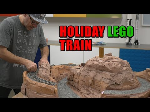 Making Terrain For A LEGO Christmas Tree Train