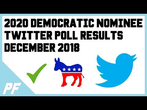 OVER 8,500 Votes! Twitter Poll Results 2020 Democratic Presidential Candidates Nominee Primary Poll