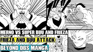 Beyond Dragon Ball Super: The New Angel Merno Vs Golden Frieza And Super Buu! Mernos Warns Vegeta