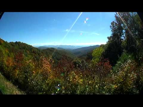 Smoky Mountains Highway 441 Biking  from Cherokee Indian reservation to Tennessee with nature scenes