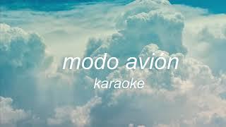 modo avión - cariño y natalia lacunza // karaoke instrumental