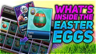 WHAT'S INSIDE THE EASTER EGGS!! 99 CRYSTAL LEGENDS + MORE! | MADDEN MOBILE