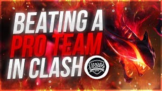 RANK 1 BEATING PRO TEAM IN CLASH!? | League of Legends