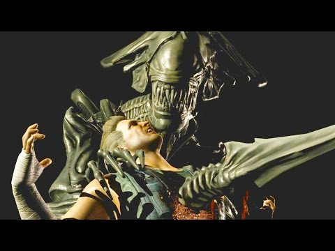 Mortal Kombat XL - Alien Killer Queen Fatality on All Characters 4K 60FPS Gameplay Fatalities