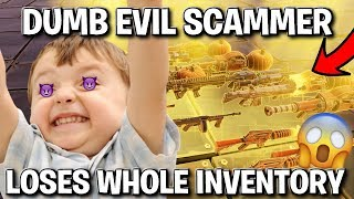 Dumb Evil Rich Kid Loses Whole Inventory! (Scammer Gets Scammed) Fortnite Save The World