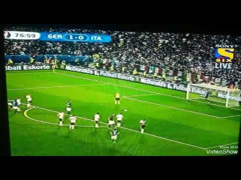 Great goal by Bonucci Italy 1-1 Germany