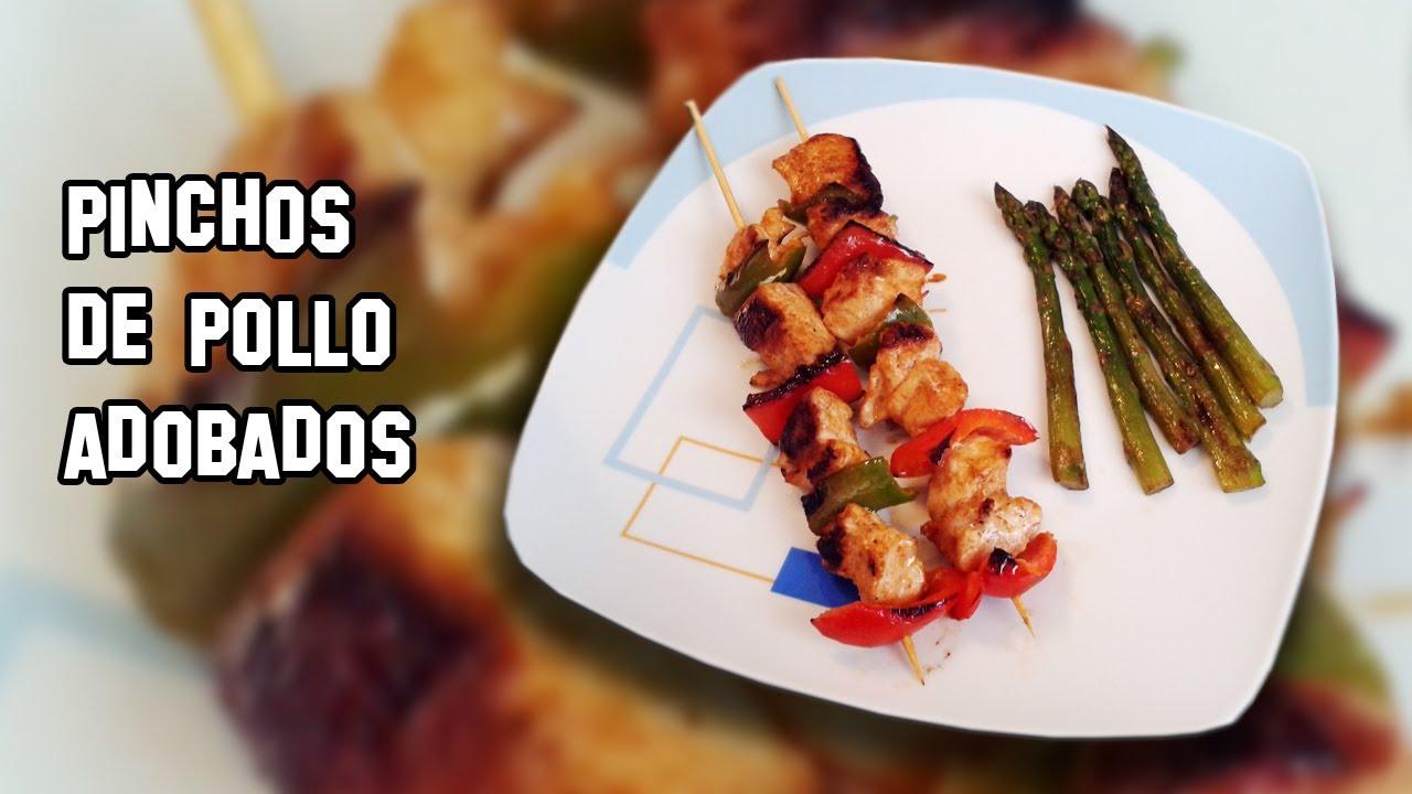 Recetas de cocina como hacer pinchos de pollo adobados - Como preparar pinchos de pollo ...