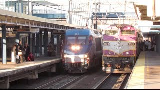 Route.128 Rail-fanning, Westwood MA (1/17/14)