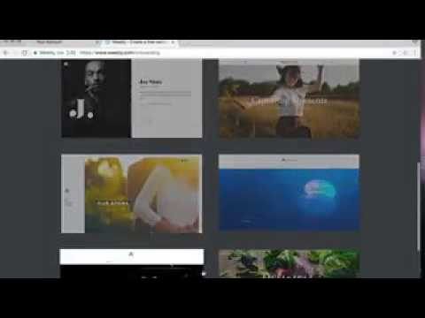 Creating a web space using weebly.com