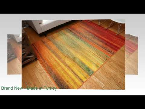 Feraghan Radiance Collection Art Contemporary Collection Modern Lines Gradient Wool Area Rug 9 x 12