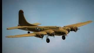 Giant RC Foam Plane, B17 Maieden Flight