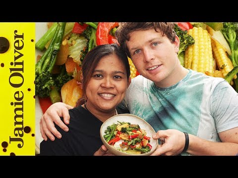 Poo cooks Vegetable Stir Fry with Tim Shieff