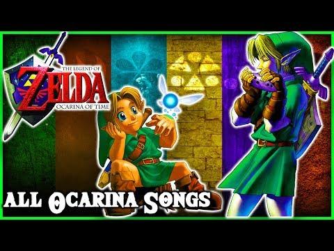 The Legend of Zelda Ocarina of Time - All Ocarina Songs Extended (Legend Of Zelda)