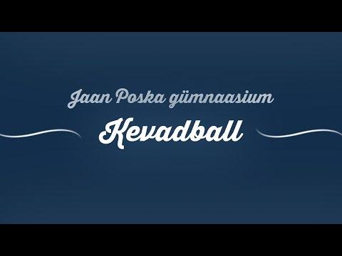 Tartu Jaan Poska gümnaasiumi kevadball / Promovideo #1