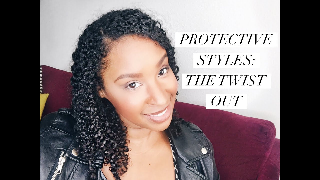 Cute Protective Hairstyle For Curly Hair The Twist Out YouTube