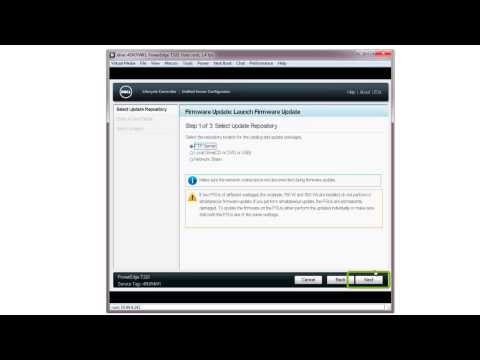 Dell Lifecycle Controller - Firmware Update Using FTP Server - YouTube