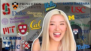 College Decision Reactions 2020!! | (19 schools: Ivies, UCs, + more)