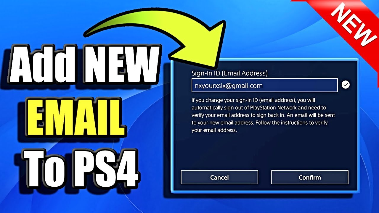 How To Change Psn Email Address On Ps4 Best Method Youtube