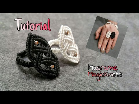 Macrame Celtic Ring  ♥ How To Make Celtic Knot ♥ Macrame Magic Knots