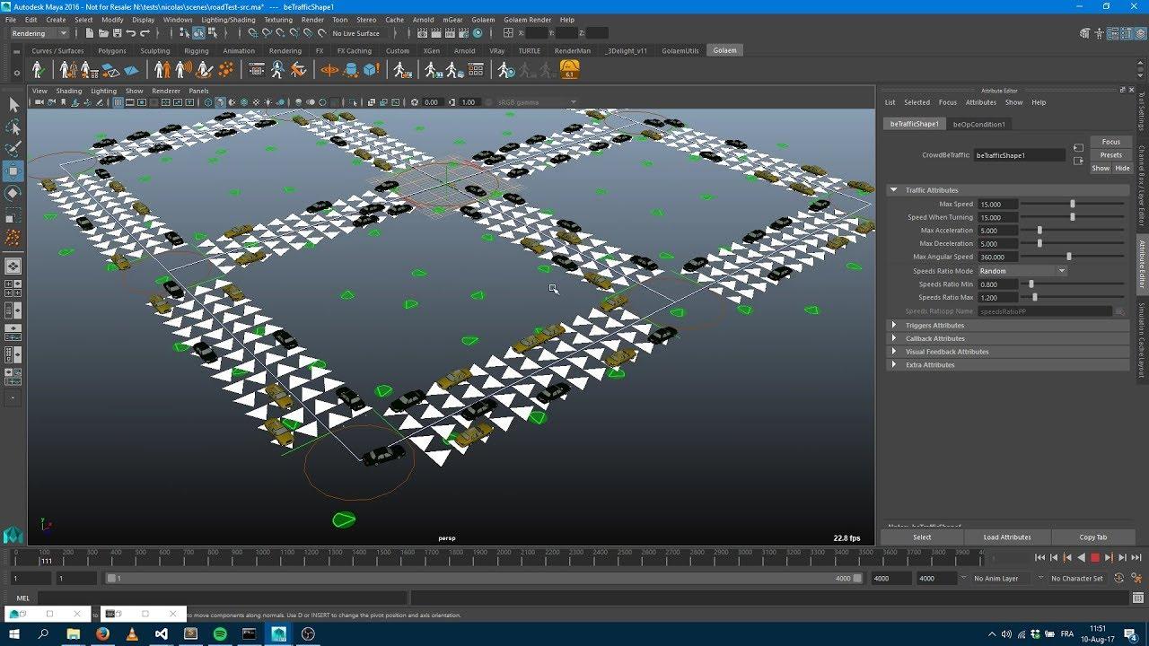 Simulating Traffic   Golaem