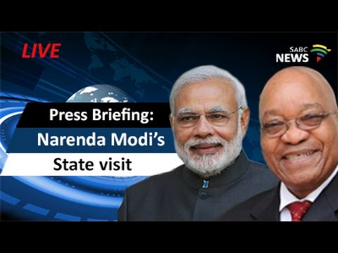 Press briefing on Narendra Modi's SA state visit