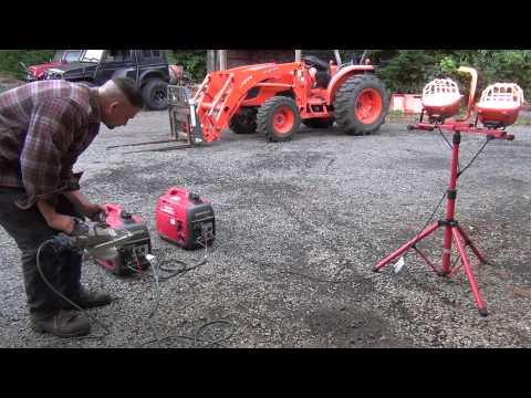 Operating two Honda EU2000i generators in parallel