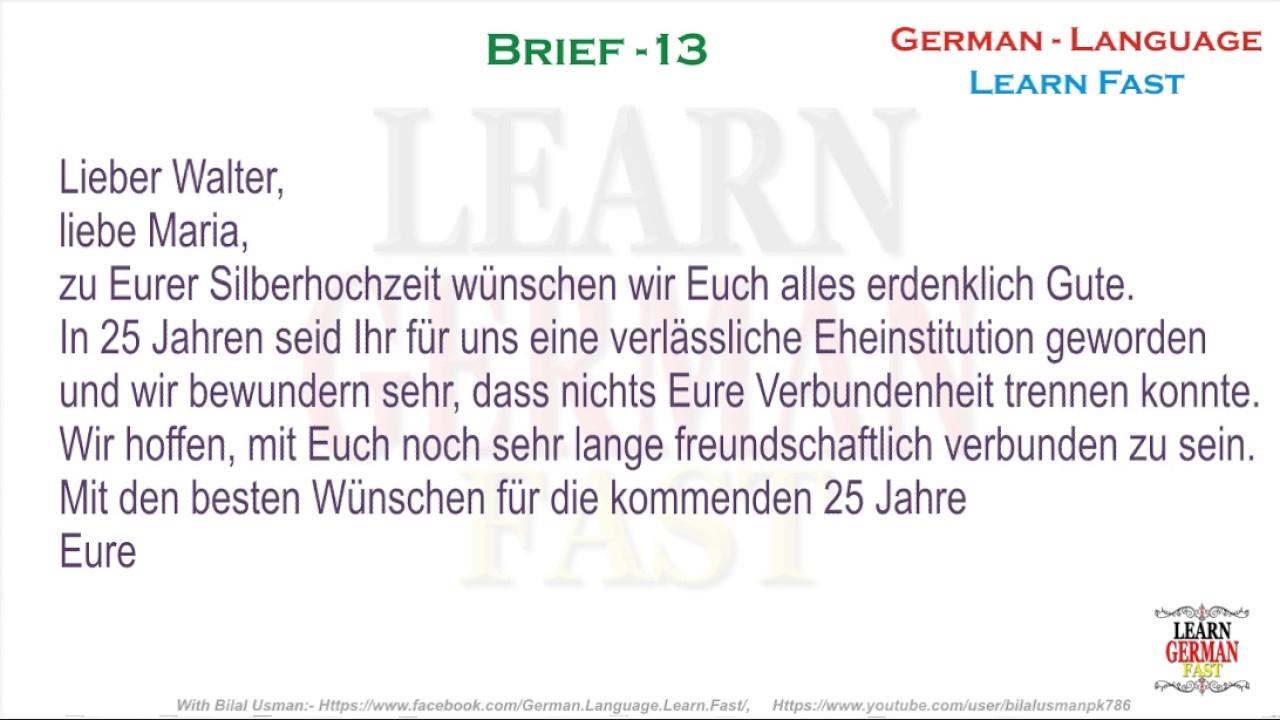 German Brief 13 A1 A2 B1 B2 C1 C2 Youtube