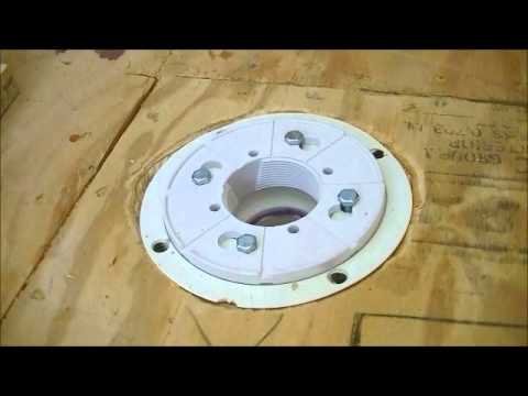 How to install drain for shower 2 39 39 oatey pvc assembly for Tub liner installation